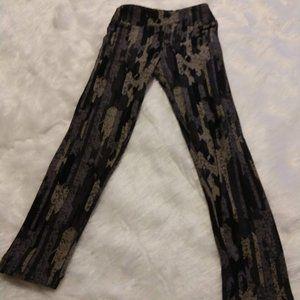 NWOT Lularoe Kid's Leggings S/M tan black grey
